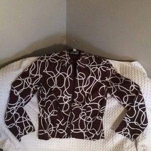 Shirt Crop Zipper Jacket